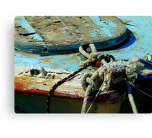 Greek boat Canvas Print
