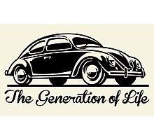 Beetle Car - Generation of Life Photographic Print