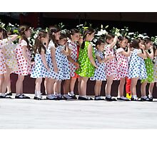 Girls in a Row Photographic Print
