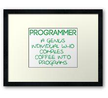 Programmer - genius Framed Print
