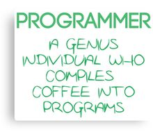 Programmer - genius Canvas Print