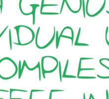 Programmer - genius Sticker