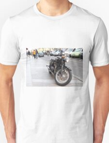 A Classic/Vintage Looking Motorcycle Unisex T-Shirt