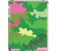 Vector illustration of green water camouflage seamless pattern. Pink romantic accent iPad Case/Skin
