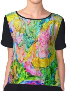 Abstract Nature Chiffon Top