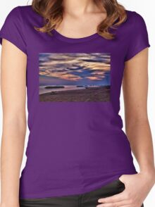Morning at the Beach - Erie, PA Women's Fitted Scoop T-Shirt