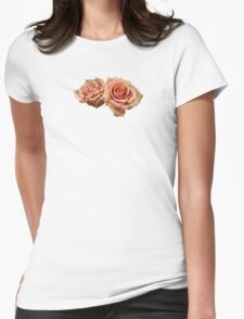 Two Peach Roses Womens Fitted T-Shirt