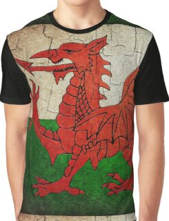 Grunge Wales flag Graphic T-Shirt