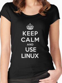 Keep Calm and You Linux T-Shirt Women's Fitted Scoop T-Shirt