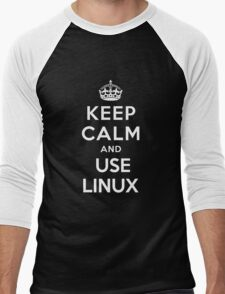 Keep Calm and You Linux T-Shirt Men's Baseball ¾ T-Shirt