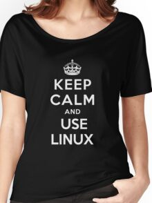 Keep Calm and You Linux T-Shirt Women's Relaxed Fit T-Shirt