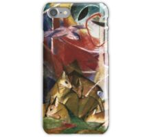 Franz Marc - Deer In The Forest . German Landscape iPhone Case/Skin