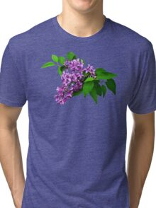 Lilacs and Leaves Tri-blend T-Shirt