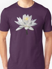 White Water Lily in Sunshine Unisex T-Shirt