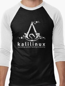 Kali Linux Operating System Hacking and Security Men's Baseball ¾ T-Shirt
