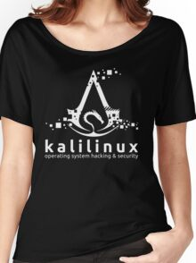 Kali Linux Operating System Hacking and Security Women's Relaxed Fit T-Shirt