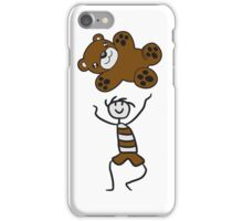 flying toss catch large stuffed animal boy child cute concept comic cartoon teddy bear baby iPhone Case/Skin