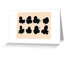 Black Octopus  Greeting Card