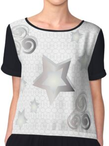 The pattern of stars in different sizes Chiffon Top