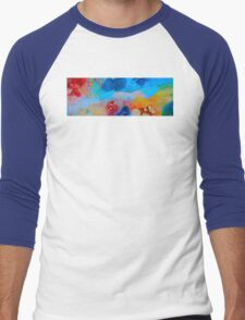 The Right Path - Colorful Abstract Art by Sharon Cummings Men's Baseball ¾ T-Shirt