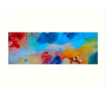 The Right Path - Colorful Abstract Art by Sharon Cummings Art Print