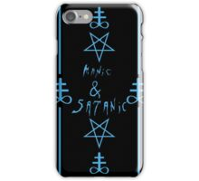 Manic & Satanic (Blue) iPhone Case/Skin
