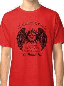 Two boys,an old man and a fallen angel (black version) Classic T-Shirt