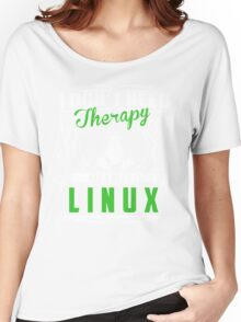 I Don't Need Therapy All I Need Is Linux T-Shirt Women's Relaxed Fit T-Shirt