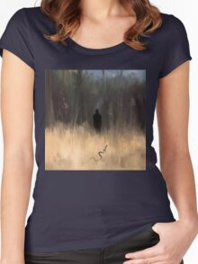 Smouldering Man With Snake Women's Fitted Scoop T-Shirt
