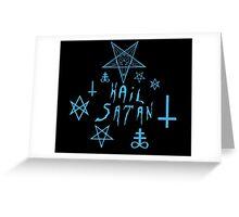 Hail Satan (Blue) Greeting Card