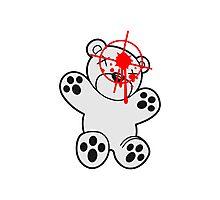 shot headshot killer killer sniper teddy strike targeted visor gamer shooter comic cartoon Photographic Print