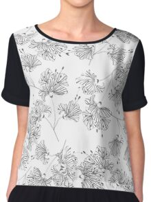Abstract background of flowers Chiffon Top