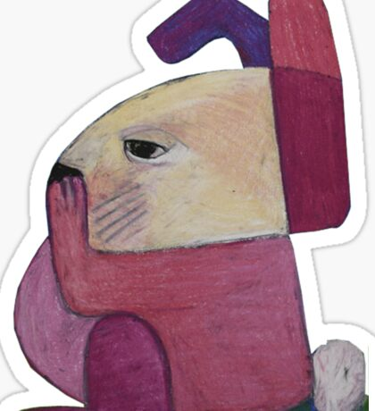 Bored Bunny Part II Sticker