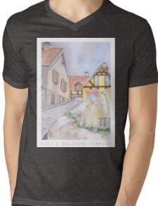 Kiki's Delivery Service Background Design Mens V-Neck T-Shirt