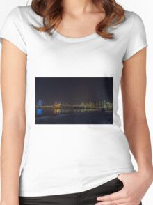 Melbourne's Docklands at night Women's Fitted Scoop T-Shirt