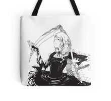 Black, white & black Tote Bag