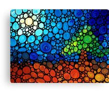 A Day To Remember - Colorful Mosaic Landscape By Sharon Cummings Canvas Print