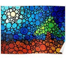 A Day To Remember - Colorful Mosaic Landscape By Sharon Cummings Poster