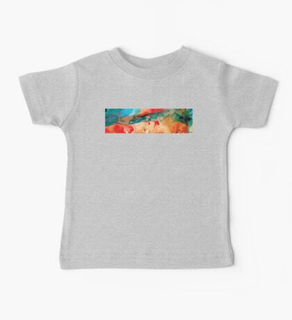 Life Eternal Red And Green Abstract Baby Tee