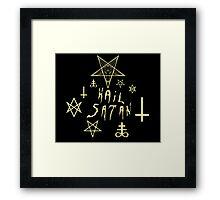 Hail Satan (Yellow) Framed Print
