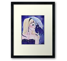 Adelina and the dragons moon by Renee Lavoie Framed Print