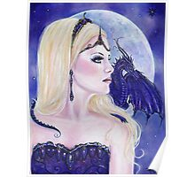 Adelina and the dragons moon by Renee Lavoie Poster