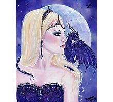 Adelina and the dragons moon by Renee Lavoie Photographic Print