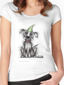 Fluffy the cute puppy Women's Fitted Scoop T-Shirt