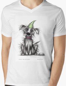 Fluffy the cute puppy Mens V-Neck T-Shirt
