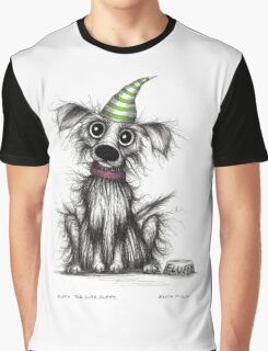 Fluffy the cute puppy Graphic T-Shirt