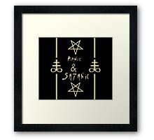 Manic & Satanic (Yellow) Framed Print