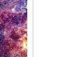L nebula stars pattern  Sticker