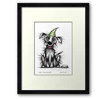 Fluffy the cute puppy Framed Print