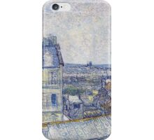 Vincent Van Gogh - View of Paris from Vincent's Room in the Rue Lepic .  Montmartre , Paris , French  Landscape iPhone Case/Skin
